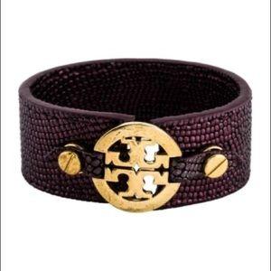 Gold-tone Tory Burch skinny double snap bracelet